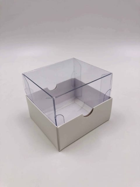 קופסת PVC עם בסיס קרטון גודל 10/9/8.5
