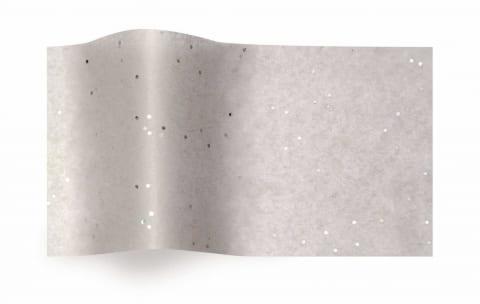 נייר משי אפור עם נצנצים