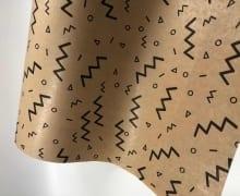 """גליל נייר 50 ס""""מ - קרפט טבעי עם עיטורים פרימיום"""