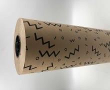 """גליל נייר 70 ס""""מ - קרפט טבעי עם עיטורים פרימיום"""