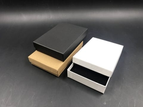 MK-018 קופסת תכשיט סינית 10/14/3 לבן/שחור/קרפט