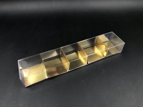 קופסת PVC + בסיס זהב ל-5 מקרונים 205/42/26