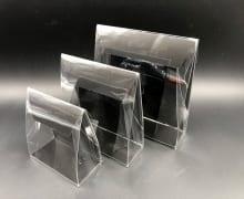 קלפה PVC רקע קרטון 100/110/50 - שחור מט (25 בחב)