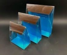 קלפה PVC רקע קרטון 100/110/50 - חום/טורקיז (25 בחב)