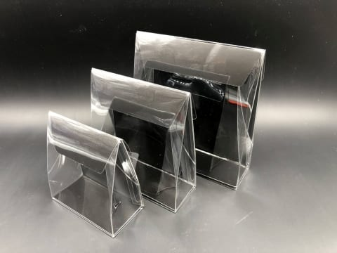 קלפה PVC רקע קרטון 160/170/50 - שחור מט (25 בחב)