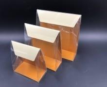 קלפה PVC רקע קרטון 160/170/50 - קרם/חרדל (25 בחב)